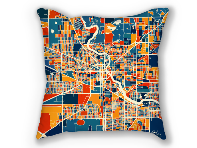 South Bend Map Pillow - Indiana Map Pillow 18x18