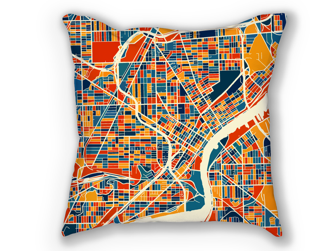 Toledo Ohio Map Pillow - Usa Map Pillow 18x18
