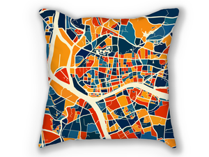 Guangzhou Map Pillow - China Map Pillow 18x18