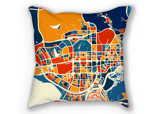 Shenzhen Map Pillow - China Map Pillow 18x18