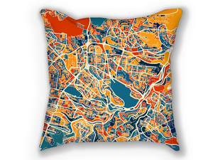 Amman Map Pillow - Jordan Map Pillow 18x18