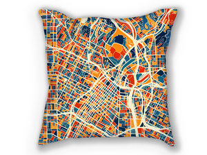 Los Angeles Map Pillow - La Map Pillow 18x18