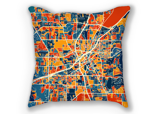 Huntsville Map Pillow - Alabama Map Pillow 18x18