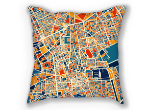 Riyadh Map Pillow - Saudi Map Pillow 18x18