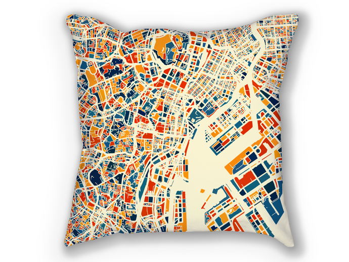 Tokyo Map Pillow - Japan Map Pillow 18x18