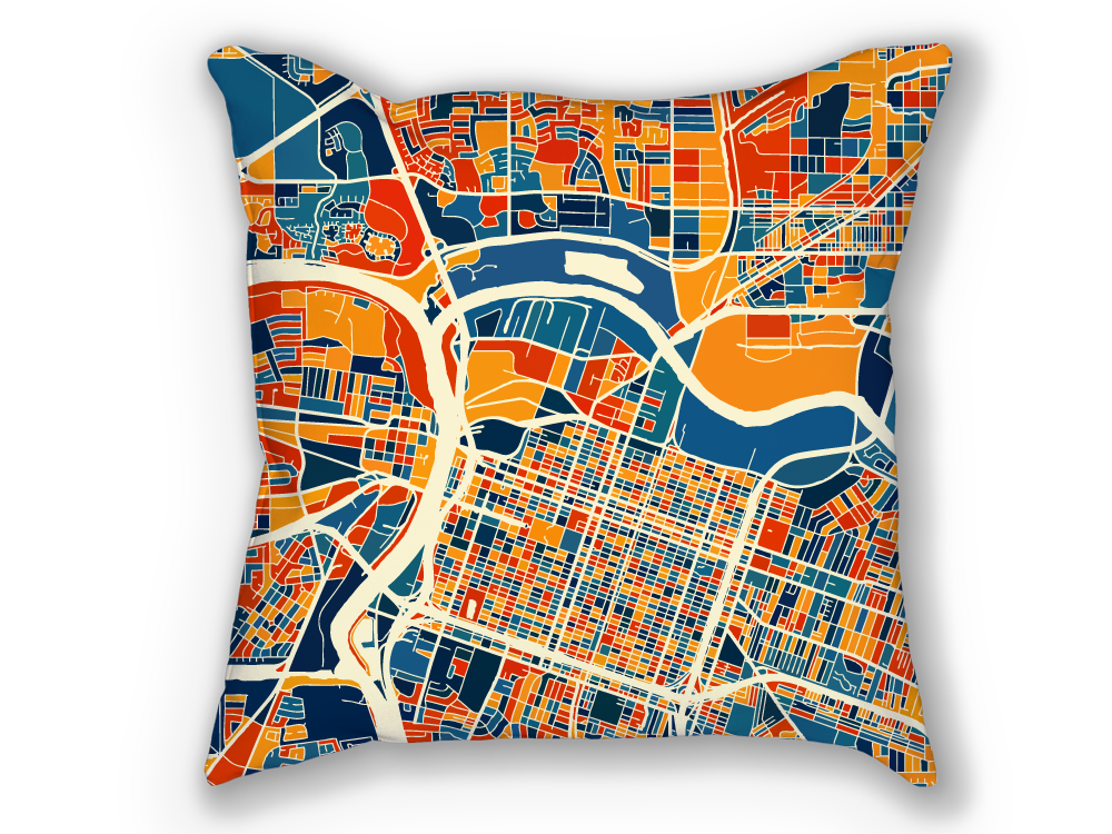 Sacramento Map Pillow - Ca Map Pillow 18x18