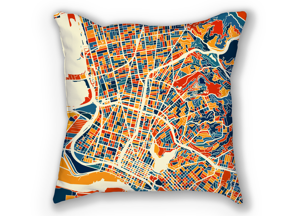 Oakland Map Pillow - California Map Pillow 18x18