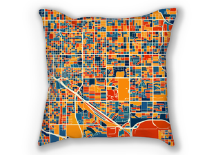 Tucson Map Pillow - Arizona Map Pillow 18x18