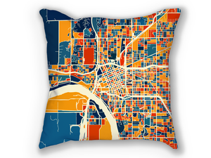Tulsa Map Pillow - Oklahoma Map Pillow 18x18