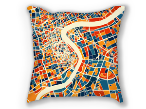 Shanghai Map Pillow - China Map Pillow 18x18