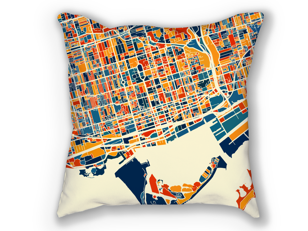 Toronto Map Pillow - To Map Pillow 18x18