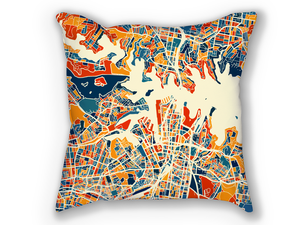 Sydney Map Pillow - Nsw Map Pillow 18x18