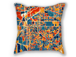 Lincoln Map Pillow - Nebraska Map Pillow 18x18