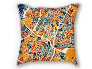 Austin Map Pillow - Texas Map Pillow 18x18