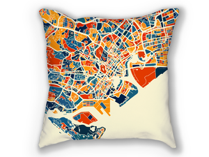 Singapore Map Pillow - Malay Peninsula Map Pillow 18x18