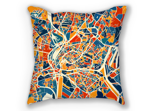 Strasbourg Map Pillow - Alsace Map Pillow 18x18