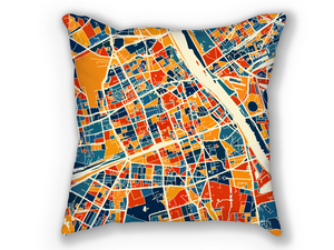 Warsaw Map Pillow - Warsaw Map Pillow 18x18