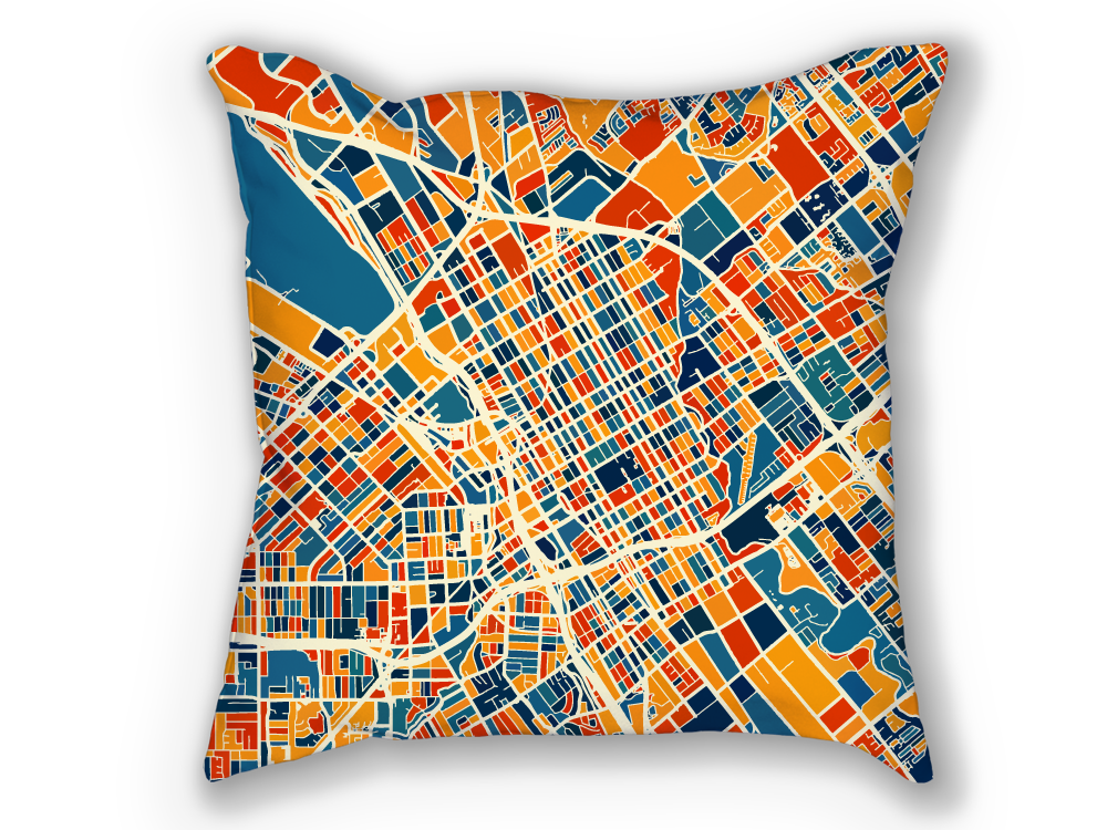 San Jose Map Pillow - Sj Map Pillow 18x18