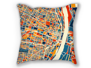 St Louis Map Pillow - Missouri Map Pillow 18x18