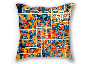 Arlington Map Pillow - Texas Map Pillow 18x18