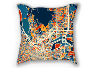 El Paso Map Pillow - Texas Map Pillow 18x18