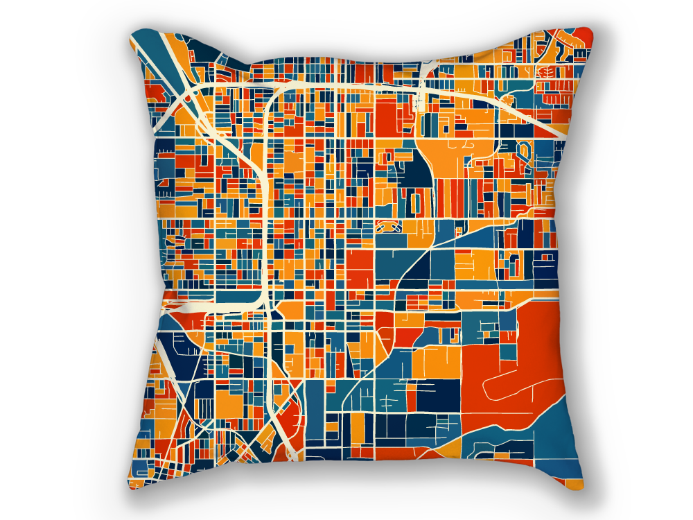 San Bernardino Map Pillow - Usa Map Pillow 18x18