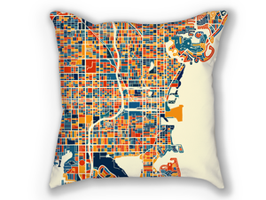 St Petersburg Florida Map Pillow - Florida Map Pillow 18x18