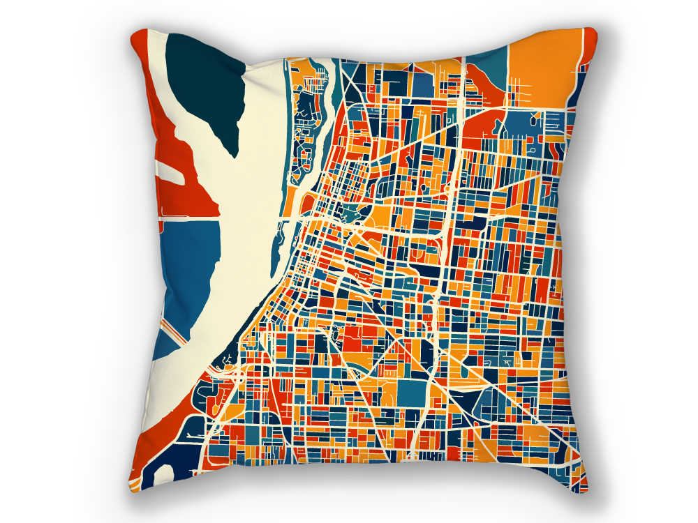 Memphis Map Pillow - Tennessee Map Pillow 18x18