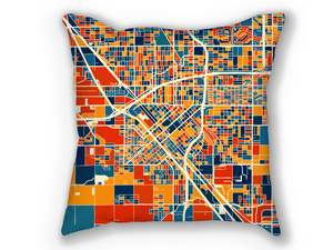 Fresno Map Pillow - California Map Pillow 18x18
