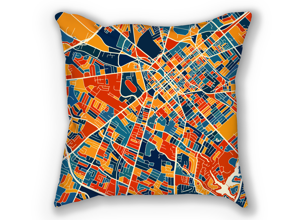 Lexington Map Pillow - Kentucky Map Pillow 18x18