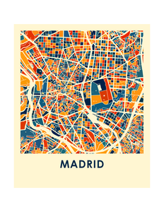 Madrid Map Print - Full Color Map Poster
