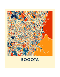 Bogota Map Print - Full Color Map Poster