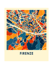 Florence Map Print - Full Color Map Poster