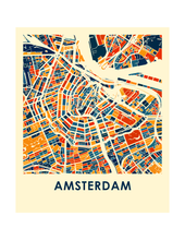 Amsterdam Map Print - Full Color Map Poster
