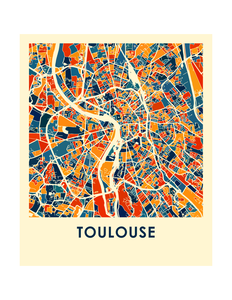 Toulouse Map Print - Full Color Map Poster