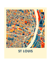 St Louis Map Print - Full Color Map Poster