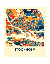 Stockholm Map Print - Full Color Map Poster