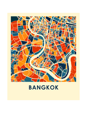 Bangkok Map Print - Full Color Map Poster