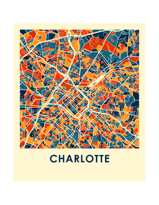 Charlotte Map Print - Full Color Map Poster
