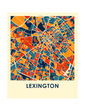 Lexington Map Print - Full Color Map Poster