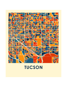 Tucson Map Print - Full Color Map Poster