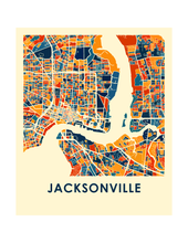 Jacksonville Map Print - Full Color Map Poster