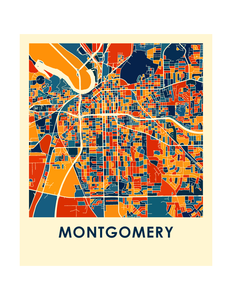 Montgomery Map Print - Full Color Map Poster