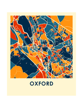 Oxford Map Print - Full Color Map Poster