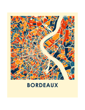 Bordeaux Map Print - Full Color Map Poster