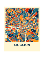 Stockton Map Print - Full Color Map Poster