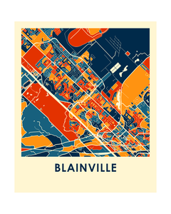 Blainville Quebec Map Print - Full Color Map Poster