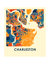 Charleston Map Print - Full Color Map Poster
