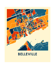 Belleville Ontario Map Print - Full Color Map Poster