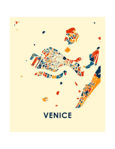 Venice Map Print - Full Color Map Poster